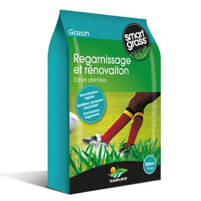 MEL. GAZON Smartgrass N°5 Regarnissage en 15 kg