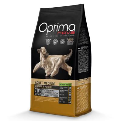 OPTIMA NOVA Chien Medium Chicken & Potatoes 12 kg