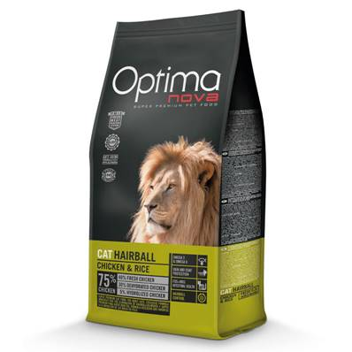 OPTIMA Chat Adulte Hairball en 8 Kg