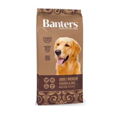 BANTERS ADULT MEDIUM CHICKEN & RICE EN 3 KG