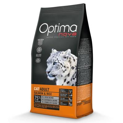 OPTIMA Chat Adulte Salmon & Rice en  8 Kg