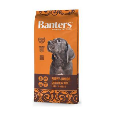 BANTERS PUPPY JUNIOR CHICKEN & RICE LARGE BREEDS EN 15 KG