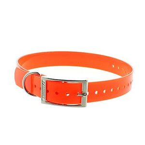 COLLIER orange fluo Bitohane 65cm/32mm
