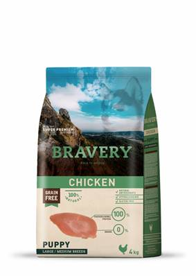 BRAVERY PUPPY CHICKEN en 12 Kg