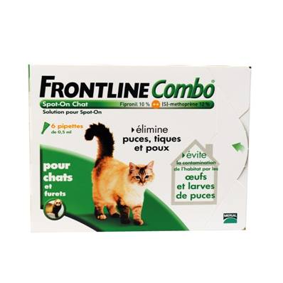 FRONTLINE Combo Chat en 6 Pipettes